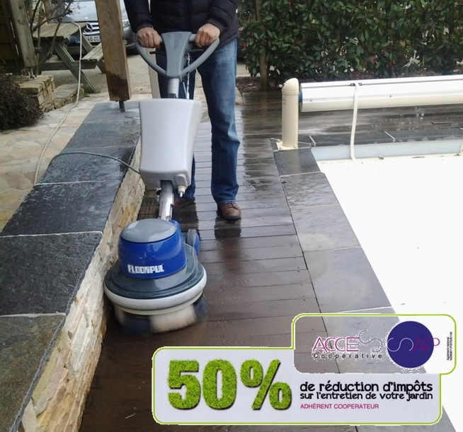 Un nettoyage écologique pour votre terrasse