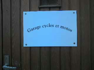 garage pour cycles et motos